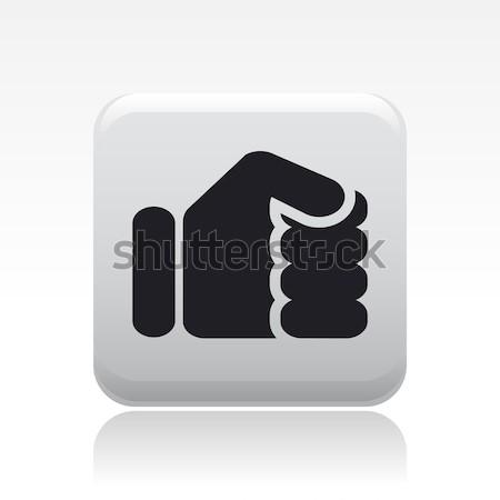 кулаком икона бокса кнопки современных концепция Сток-фото © Myvector