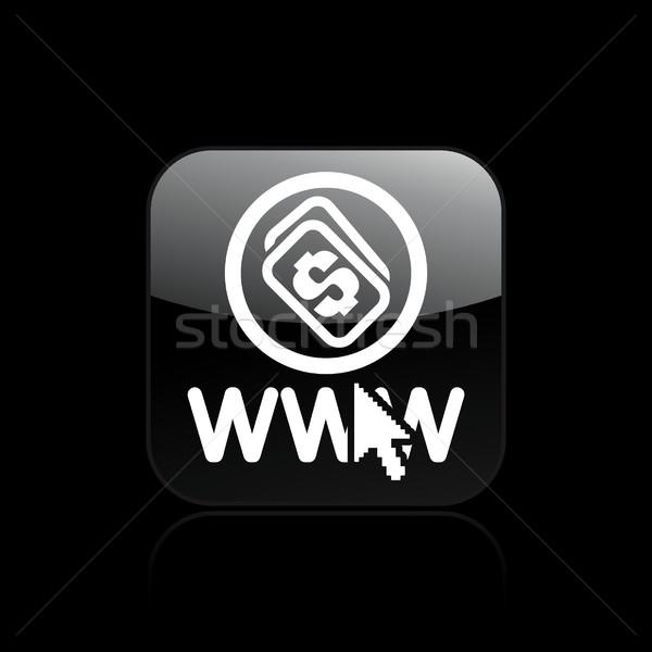 веб деньги икона интернет WWW концепция Сток-фото © Myvector