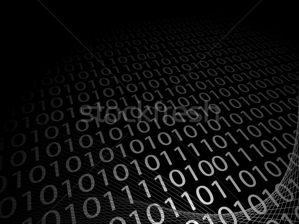 Abstract background with binary code Stock photo © Myvector