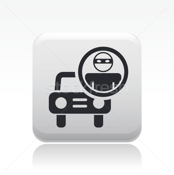 Ladrão carro ícone Foto stock © Myvector