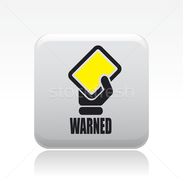 Warned icon Stock photo © Myvector