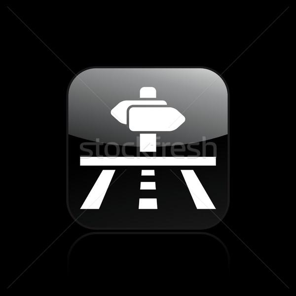дороги направлении икона улице стрелка ходьбы Сток-фото © Myvector