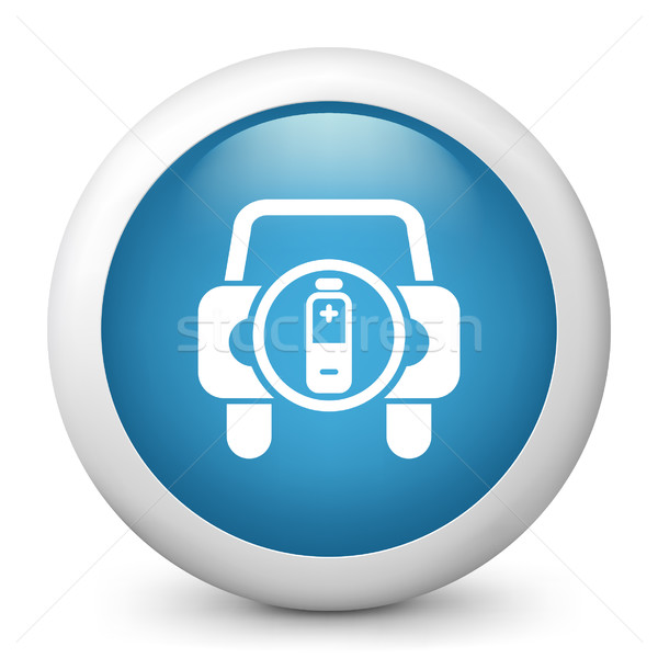Blauw glanzend icon auto licht mobiele Stockfoto © Myvector
