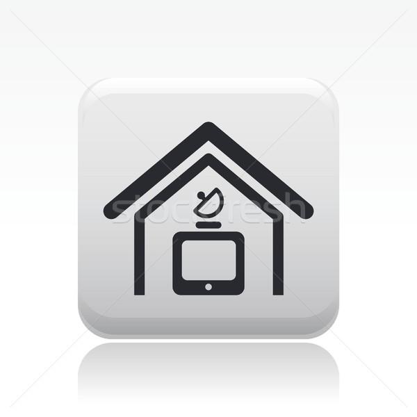 Antenna ikon televízió otthon műhold ötlet Stock fotó © Myvector