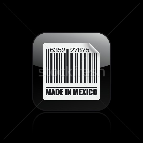 México ícone mercado nosso etiqueta código de barras Foto stock © Myvector