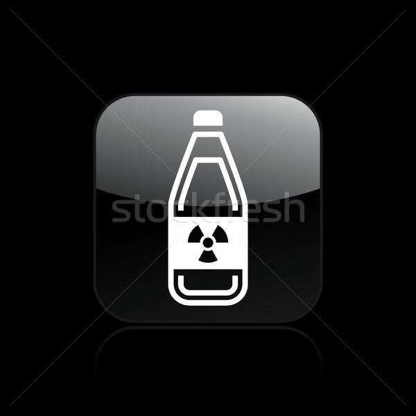 Tehlikeli şişe ikon güvenlik sanayi ölüm Stok fotoğraf © Myvector