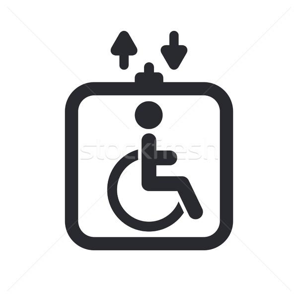 Handicap windy ikona domu domu zdjęcie Zdjęcia stock © Myvector