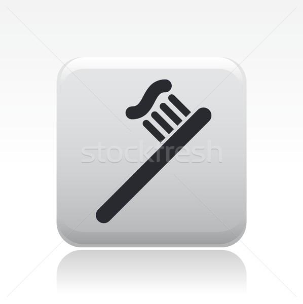 Diş macunu ikon temizlemek Stok fotoğraf © Myvector