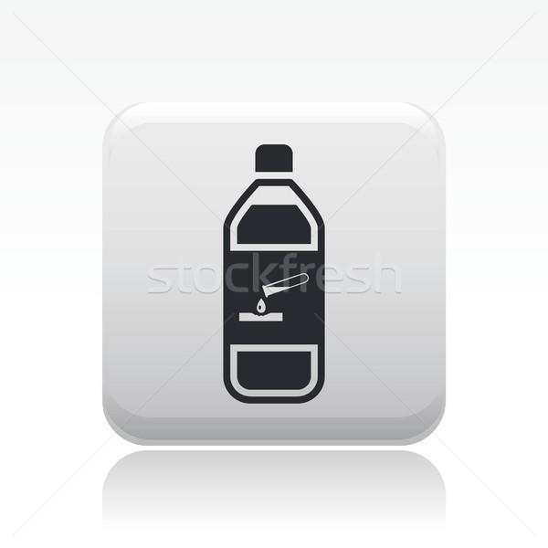 Gevaarlijk fles icon chemische vloeibare verontreiniging Stockfoto © Myvector