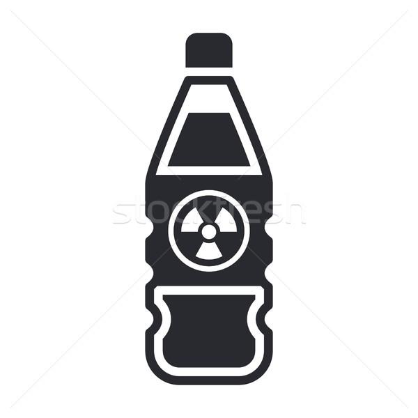 Tehlikeli şişe ikon güvenlik sanayi laboratuvar Stok fotoğraf © Myvector