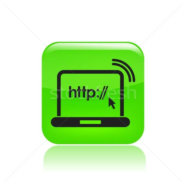 Http icono ordenador casa red flecha Foto stock © Myvector