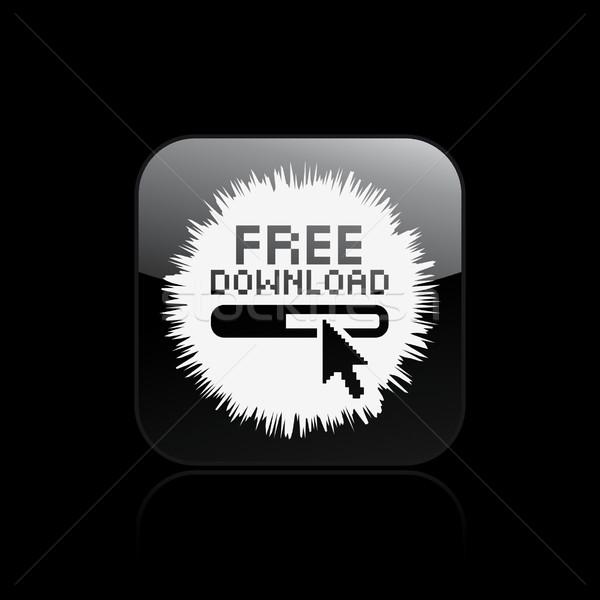 Libre icône de téléchargement internet design souris web Photo stock © Myvector