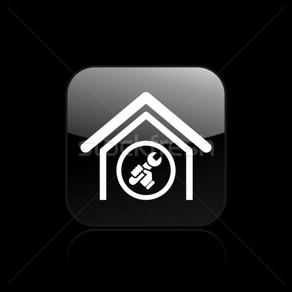 Stock photo: Adjust home icon