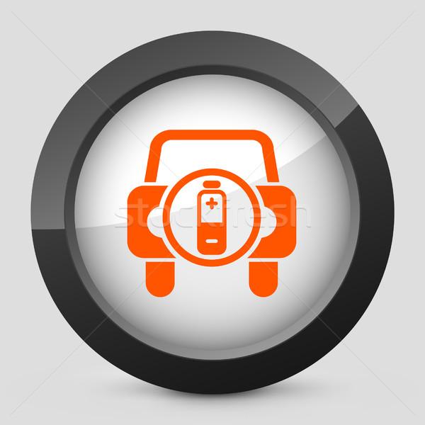 Elegante laranja ícone carro luz Foto stock © Myvector
