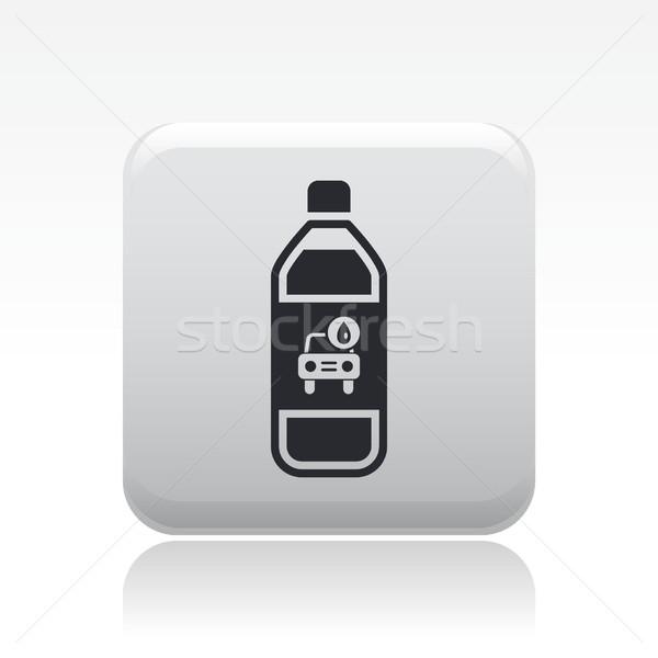 Lava-jato sabão ícone líquido garrafas lavar Foto stock © Myvector