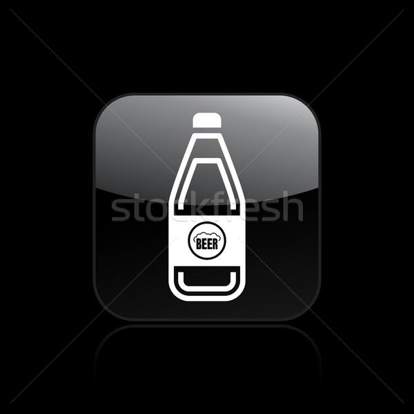 Bira ikon içmek şişe Stok fotoğraf © Myvector