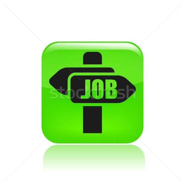 работу икона рабочих признаков исследований сотрудник Сток-фото © Myvector