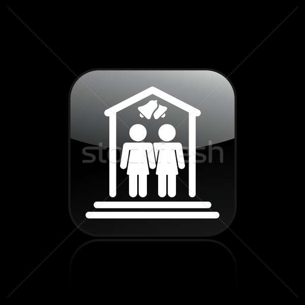 Lesbian marriage icon Stock photo © Myvector