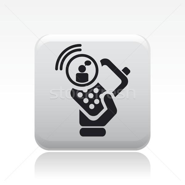 чате смартфон икона телефон почты пост Сток-фото © Myvector