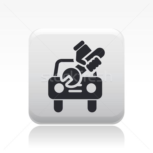 Naprawa samochodów ikona podziale naprawy techniczne wektora Zdjęcia stock © Myvector