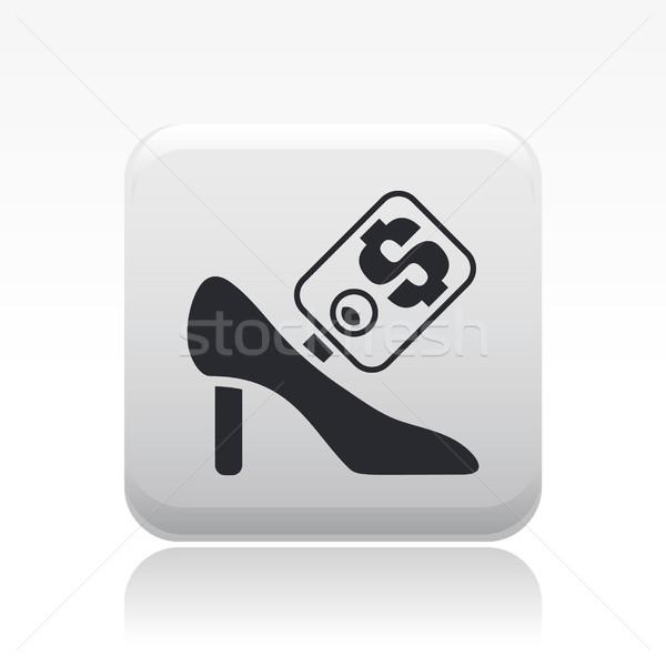 обуви продажи икона рынке магазине женщины Сток-фото © Myvector