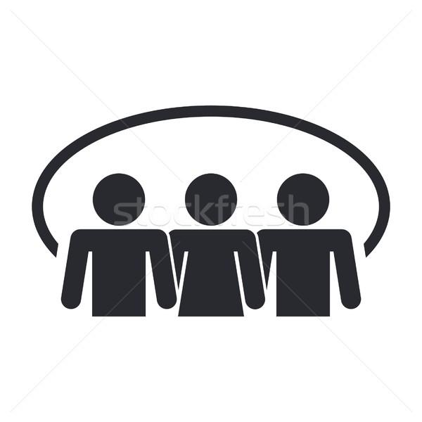 Sosyal ikon ağ topluluk kavram iletişim kurmak Stok fotoğraf © Myvector