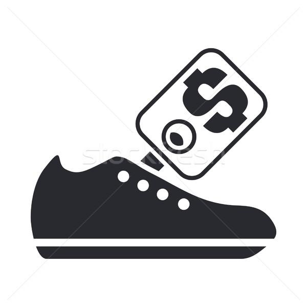 Ayakkabı fiyat ikon Stok fotoğraf © Myvector