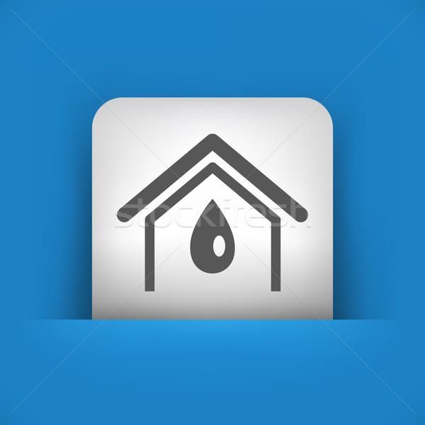 Mavi gri ikon dizayn damla Stok fotoğraf © Myvector