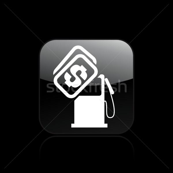 Paliwa kosztować ikona kupić pojęcia Zdjęcia stock © Myvector