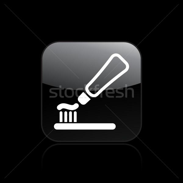 Diş macunu vektör ikon dişler temizlik yıkama Stok fotoğraf © Myvector