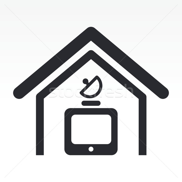 Antenna tv icon Stock photo © Myvector