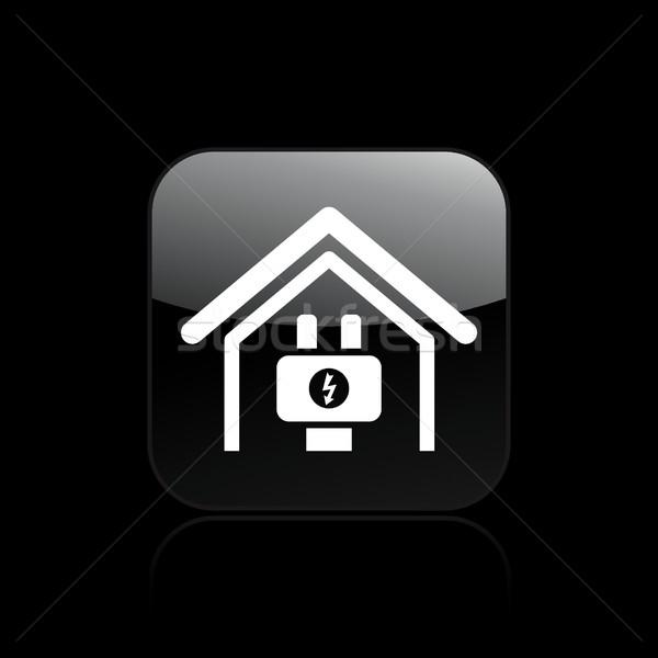 электрических икона дома энергии концепция вектора Сток-фото © Myvector