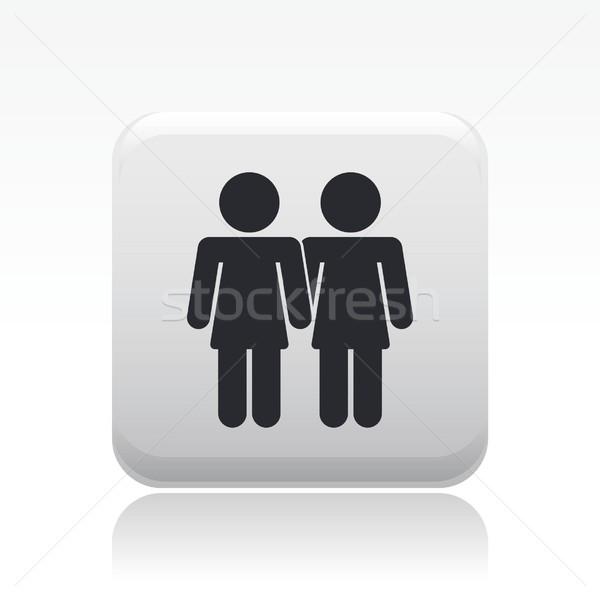 лесбиянок икона девочек любителей Сток-фото © Myvector
