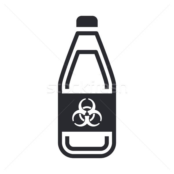 Tehlikeli şişe ikon sanayi sıvı tehlike Stok fotoğraf © Myvector