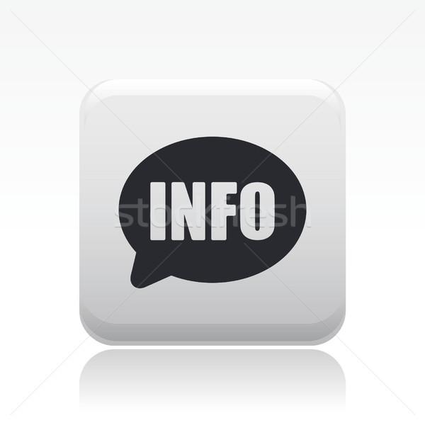 Info ikona wiadomości pojęcia Zdjęcia stock © Myvector