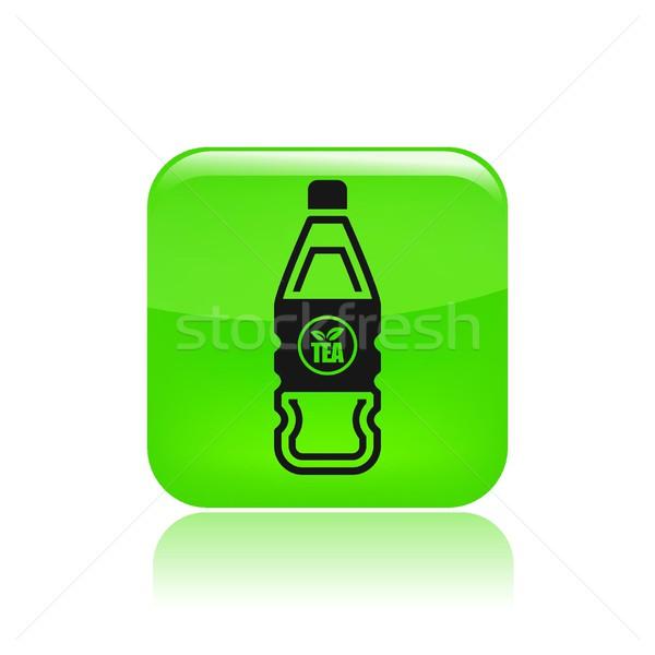 Fles icon drinken cap Stockfoto © Myvector