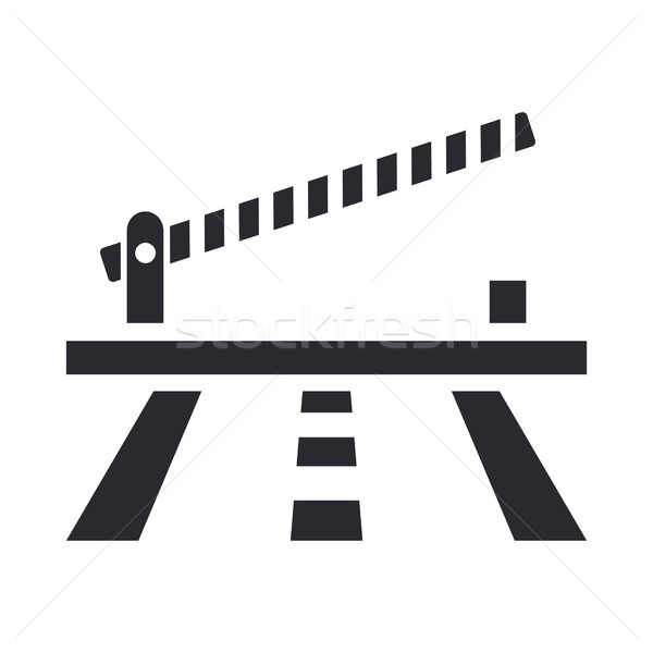 Barrier icon Stock photo © Myvector