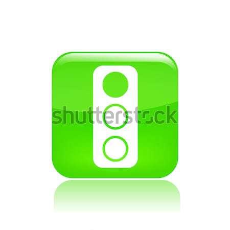 Сток-фото: светофора · икона · концепция