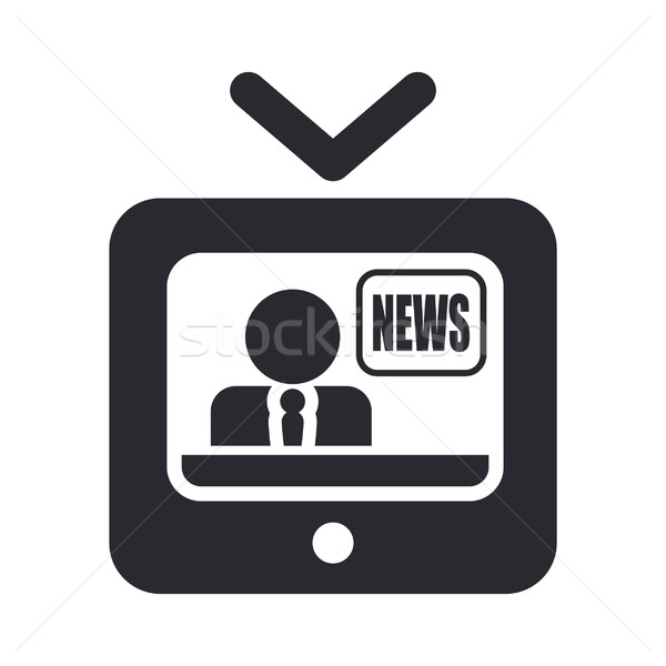 Nieuws icon televisie informatie concept verslag Stockfoto © Myvector