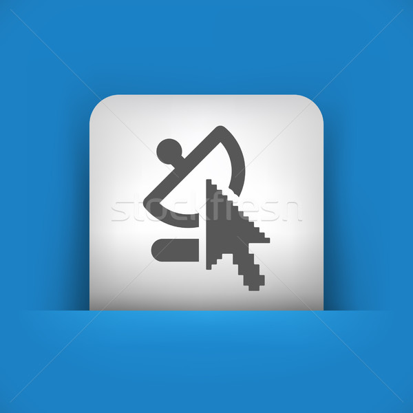 Azul gris icono ordenador Internet web Foto stock © Myvector