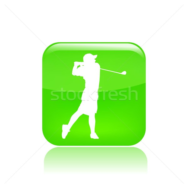 Jogador de golfe ícone jogar jogo Foto stock © Myvector
