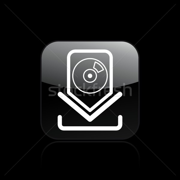 Cd icône de téléchargement musique logiciels audio vente Photo stock © Myvector