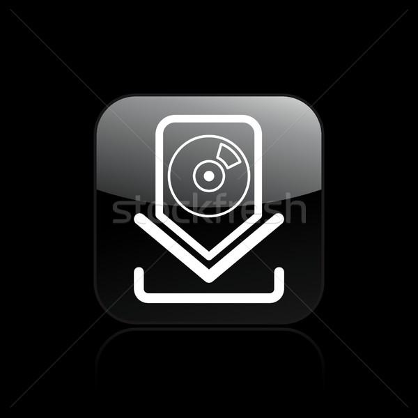 Cd download icon Stock photo © Myvector