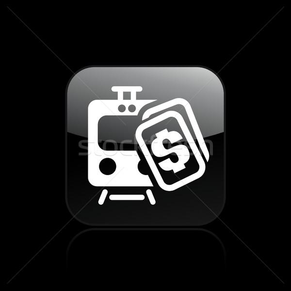 Pociągu kosztować ceny ikona wektora odizolowany Zdjęcia stock © Myvector