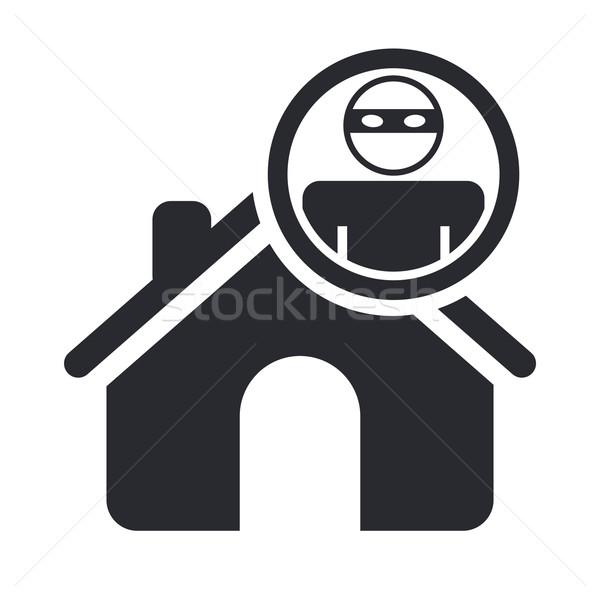 Home ladro icona auto Foto d'archivio © Myvector