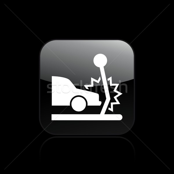 Auto crash icon auto verkeer verzekering Stockfoto © Myvector
