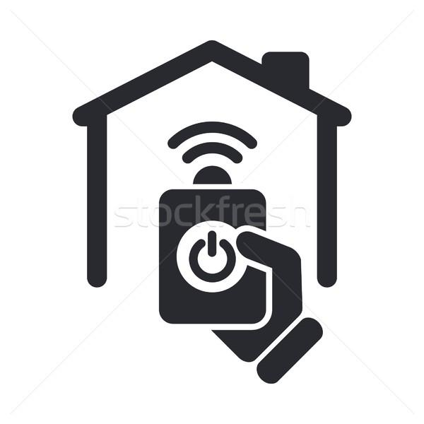 удаленных домой икона дома стоянки переключатель Сток-фото © Myvector