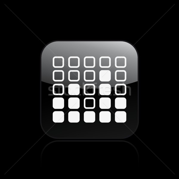 Hangszínszabályozó ikon gomb kép audio grafika Stock fotó © Myvector