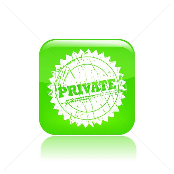 Private icon  Stock photo © Myvector