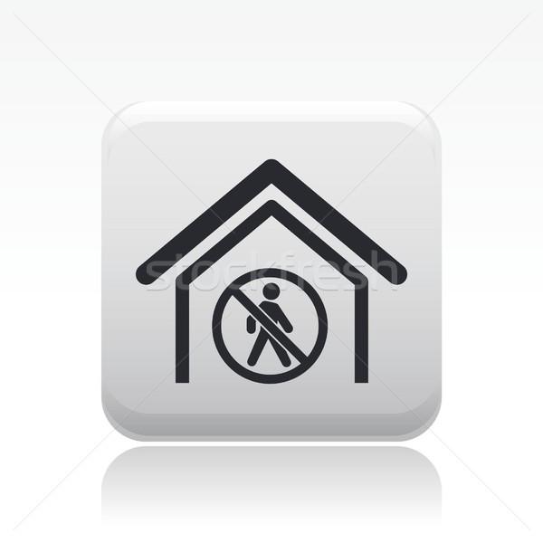 Acessar proibido ícone casa caminhada isolado Foto stock © Myvector